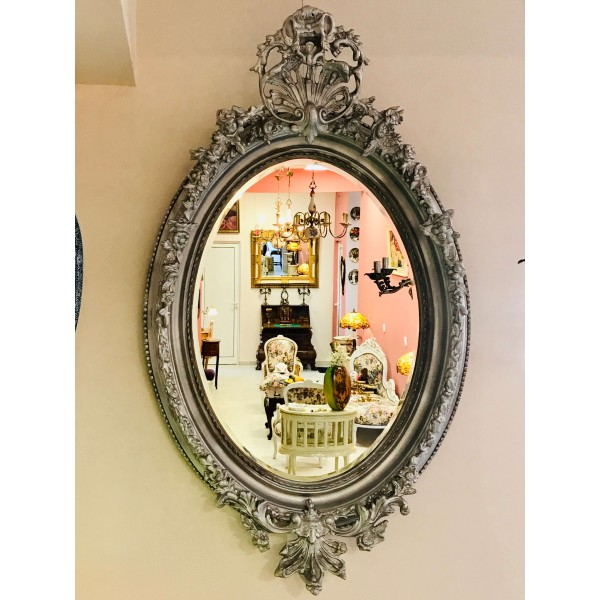 Голямо овално огледало