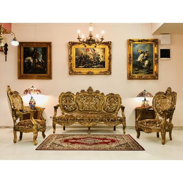 """Френска мека мебел """"Златен Барок"""""""