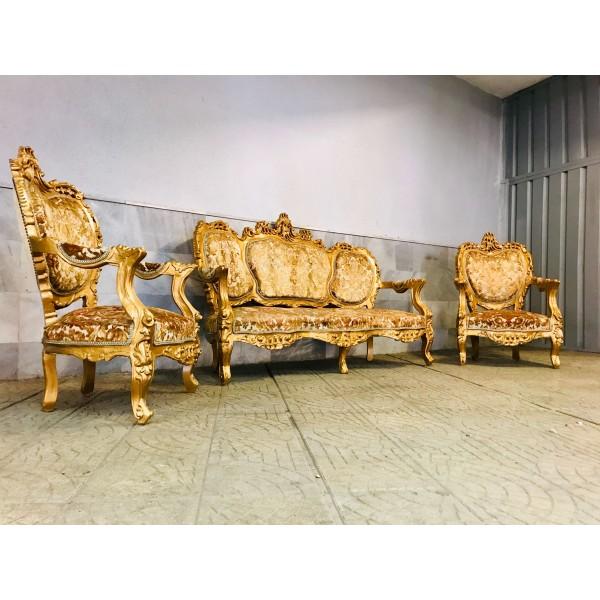 """Кралска мека мебел """"Златен Барок"""""""