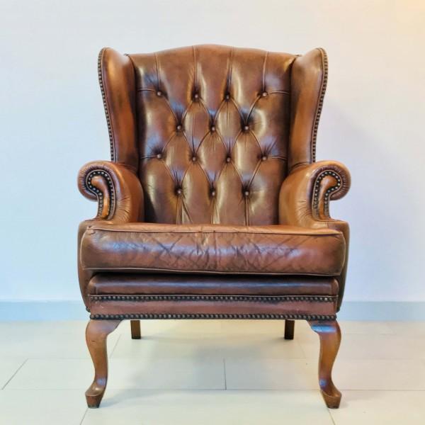 Английско кожено кресло