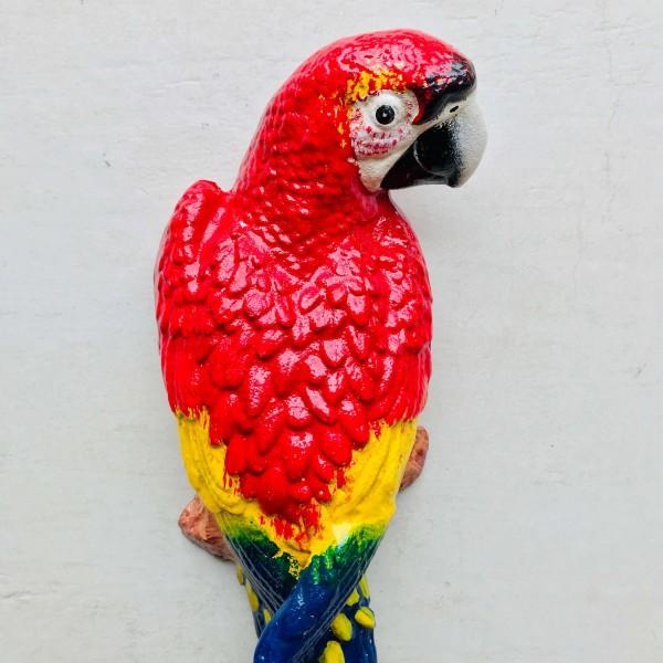 Декоративна фигура - Папагал (Червен)