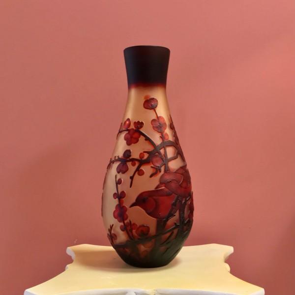 """Арт ваза """"Гале"""" - Японска вишна"""