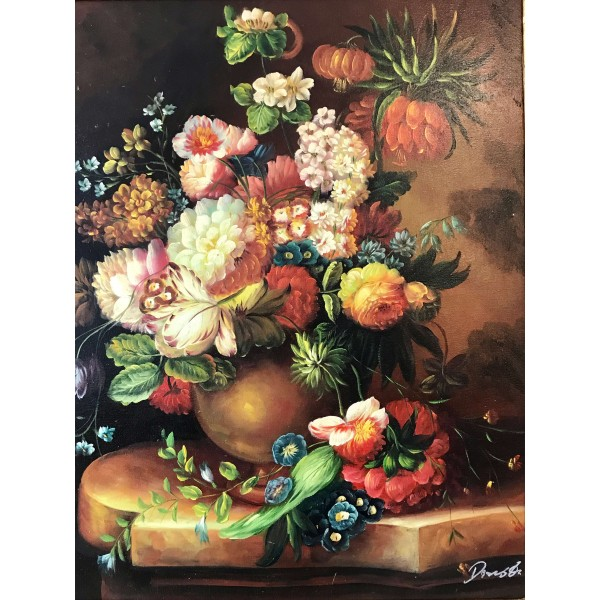 Картина - Натюрморт с цветя