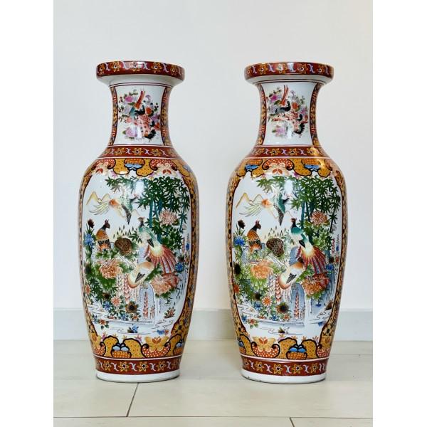 Чифт китайски вази - Райска градина