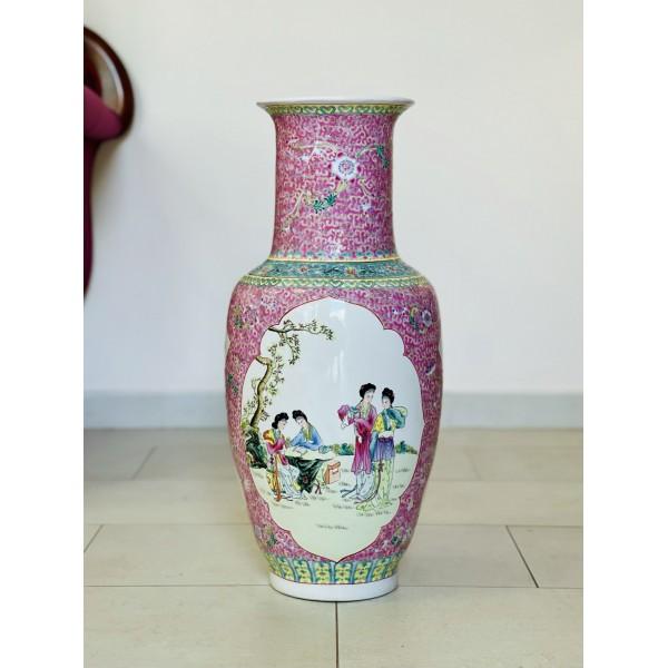 """Голяма китайска ваза """"Обучението на гейшите"""""""