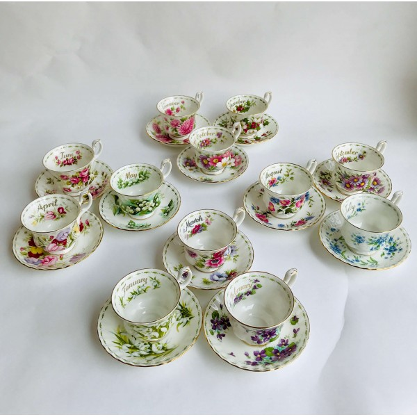 Сервиз за чай или кафе - Flower of the month series (Royal Albert)