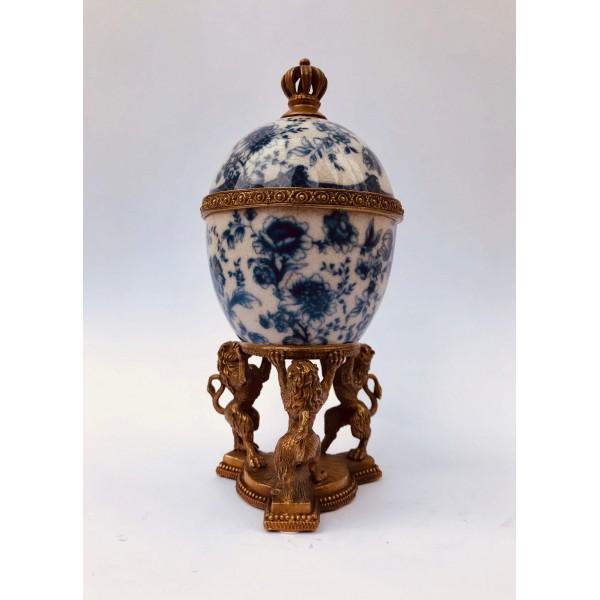 Бижутерка - Яйце (синя)