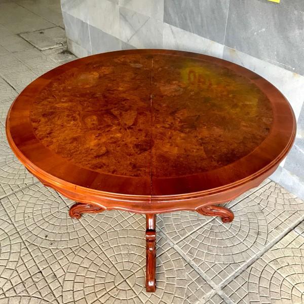 """Кръгла трапезна маса - разтегателна """"Луи XV"""""""